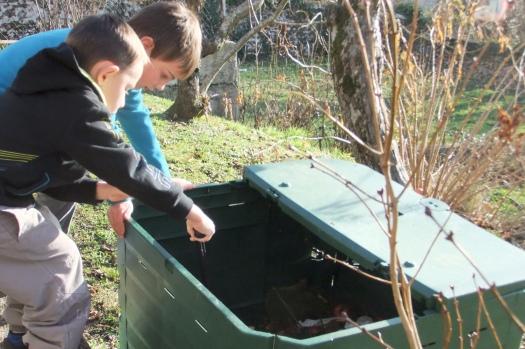 Observation du compost par les maternelles