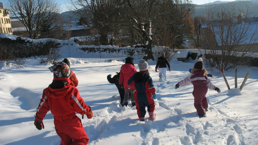 maternelle neige jardin