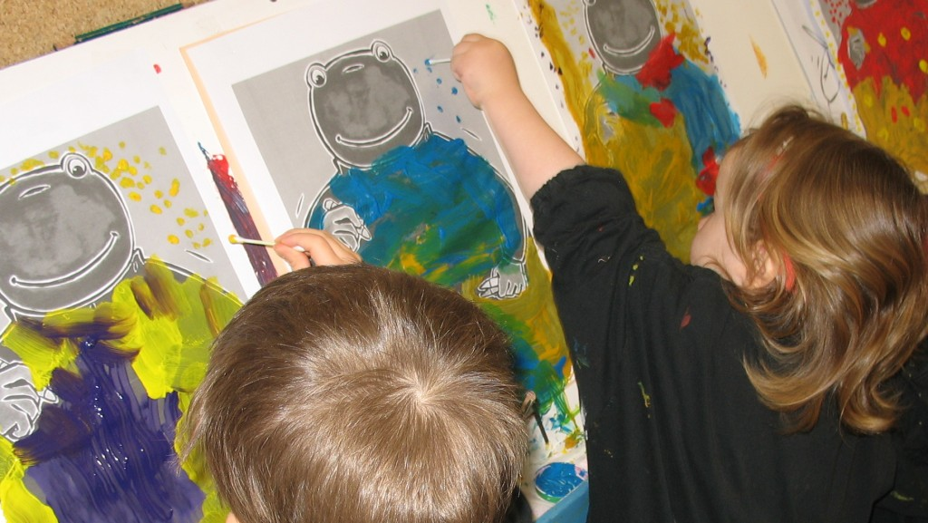 peinture  maternelle